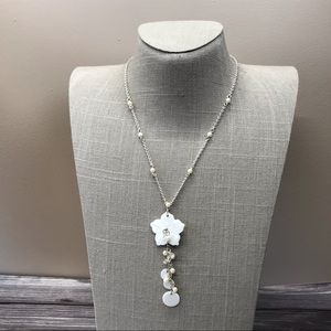 Avon Mother of pearl tassel necklace